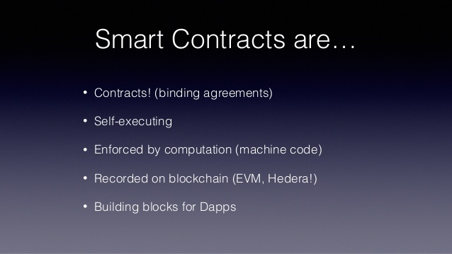 what are smart contracts slide