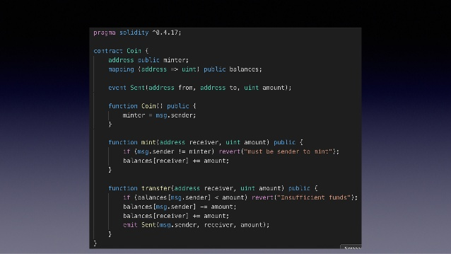 basic solidity code