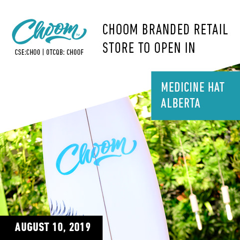 # Choom-branded Cannabis Retail Store Licensed to Open in Medicine Hat, Alberta