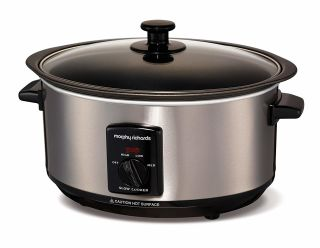 Morphy Richards Brushed Sear and Stew Slow Cooker - 48701
