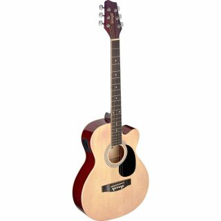 Stagg SA20ACE NAT Auditorium Cutaway Electro-Acoustic Guitar - Natural Brown