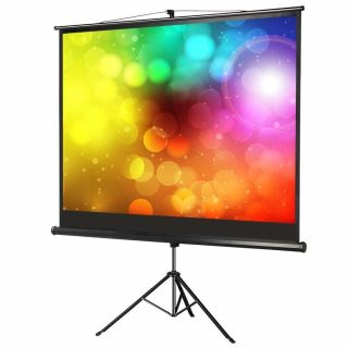 Yaheetech Popamazing Tripod Floor Standing Pull-up Projector Screen