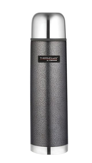 Thermos ThermoCafé Stainless Steel Flask, Hammertone Grey