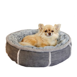 Rosewood Deep Plush Grey Donut Dog Bed