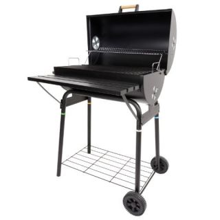 Azuma Black Steel Barrel BBQ Charcoal Grill
