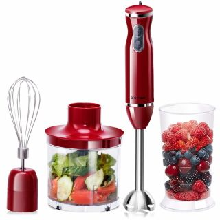 COSTWAY 3 in 1 Hand Blender Food Mixer Processor Whisk Handheld Set