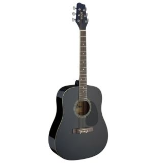 Stagg SA20D BLK Dreadnought Acoustic Guitar