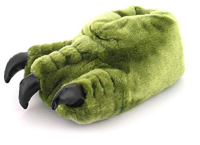 Mens Green Novelty Monster Claw Slipper