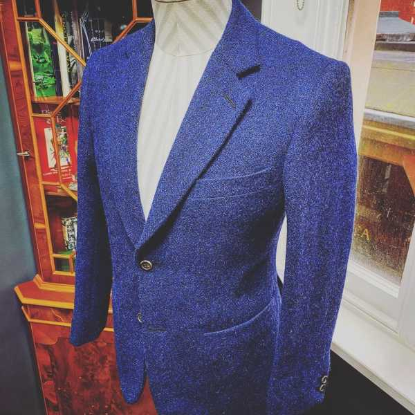 navy blue harris tweed jacket