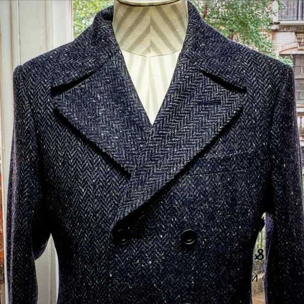 Donegal tweed overcoat