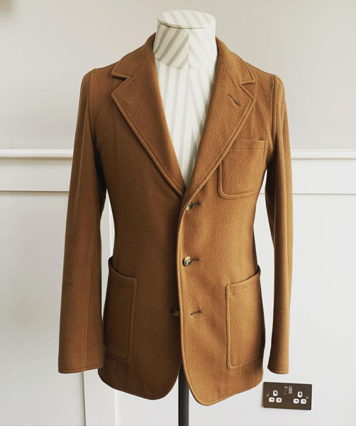 unstructured camel hair jacket