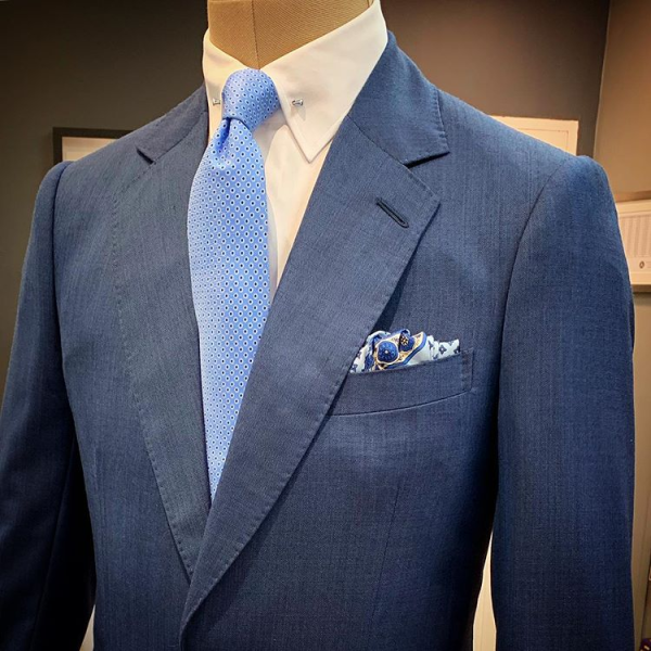 petrol blue suit