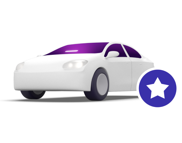 Lyft illustration of Lyft car star icon