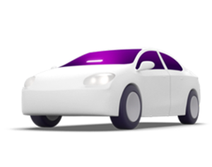 Lyft illustration of a car with an Amp in the windshield