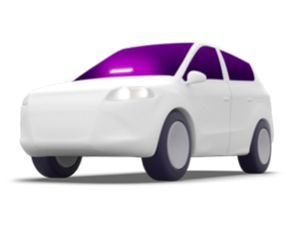 Lyft xtra seats car illustration with an Amp in the windshield