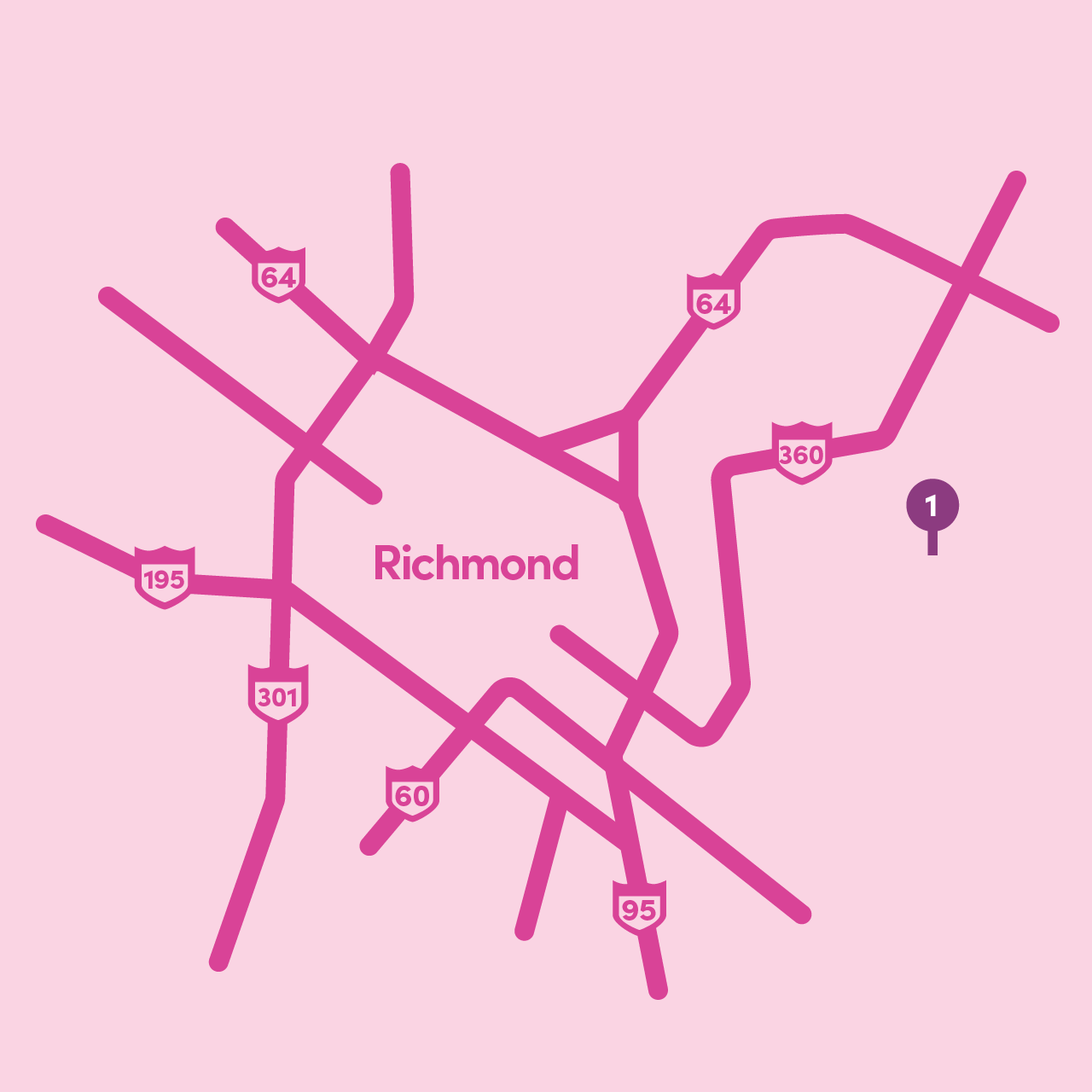 Lyft Grocery Access: Map of participating Richmond City locations