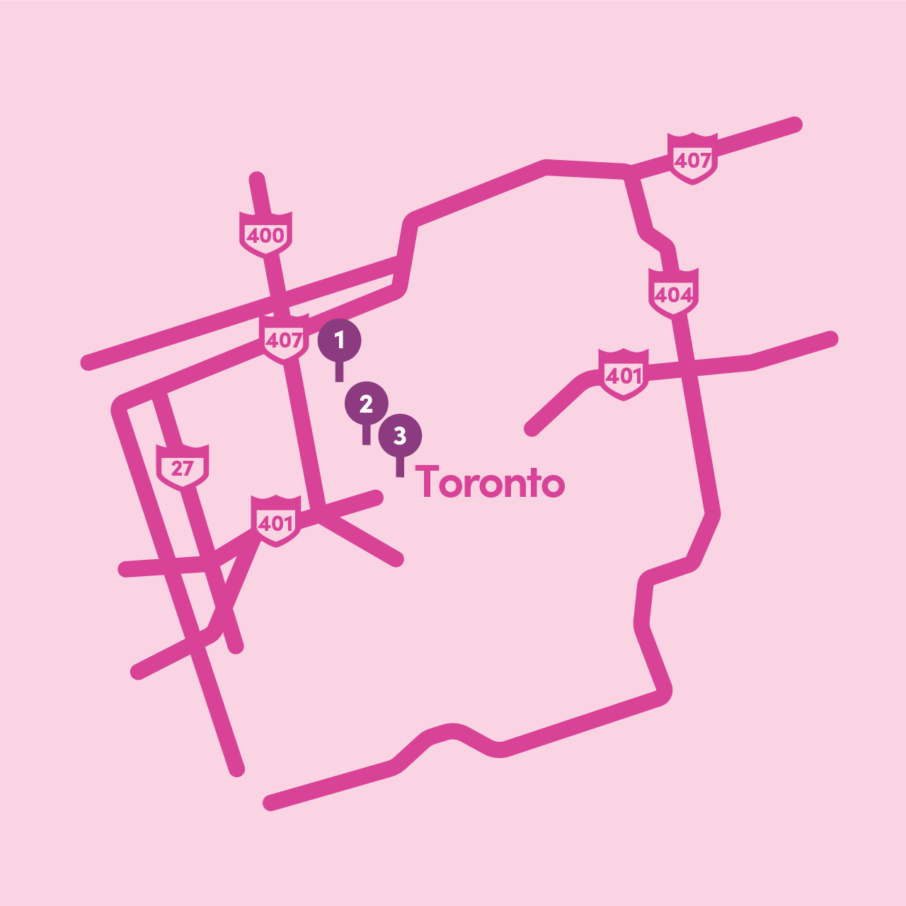 Lyft Grocery Access: Map of participating Toronto locations