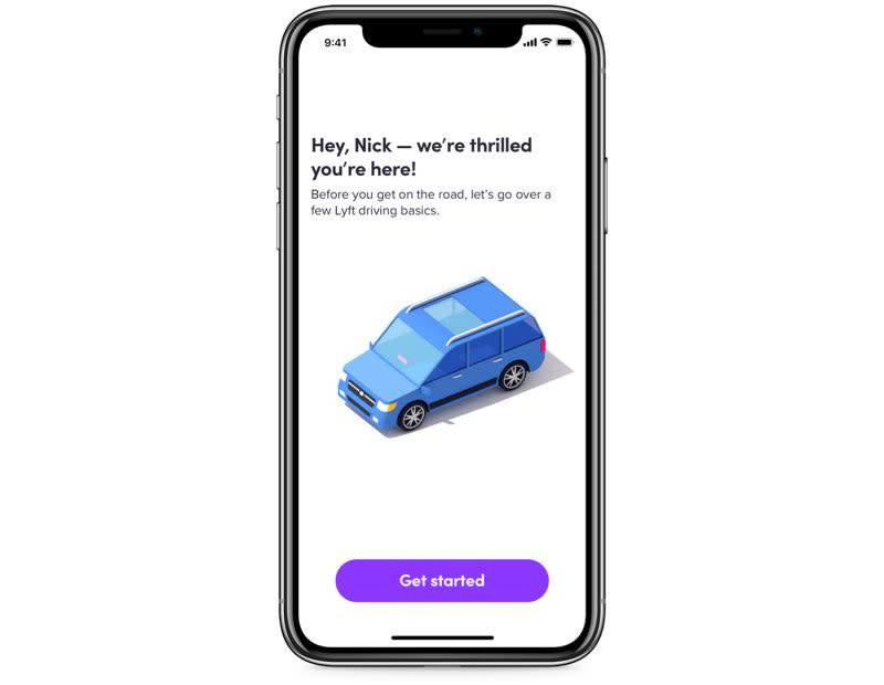 Get Approved To Be A Driver Product Screen