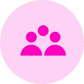 People icon - pink