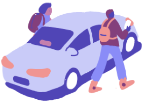 Lyft Shared ride illustration