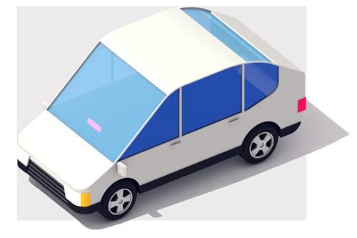 (Fare) White-car