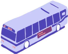 Lyft Transit: Illustration of a city bus