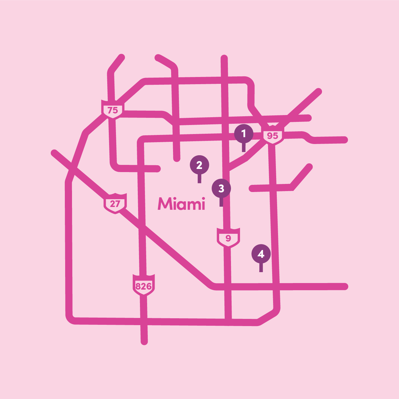 Lyft Grocery Access: Map of participating Miami locations (2)