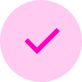 Checkmark icon - pink