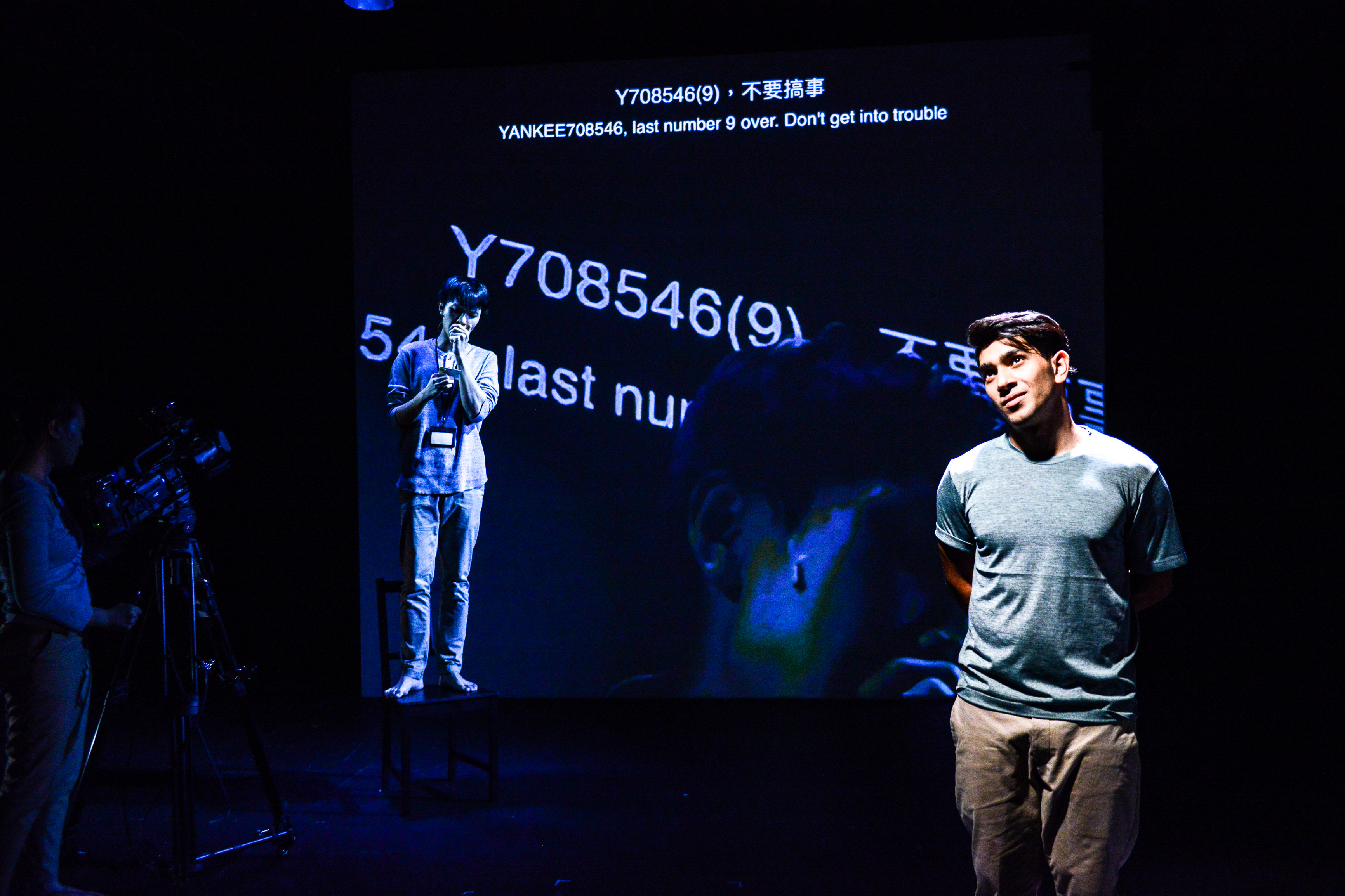 Anyway, that was the only funny experience I had with the police | Featuring: Mohammad Kashif Ali, Ng King Lung | Tagged as: Show, Testimony | Photo: Fung Wai Sun |  (Rooftop Productions • Hong Kong Theatre Company)