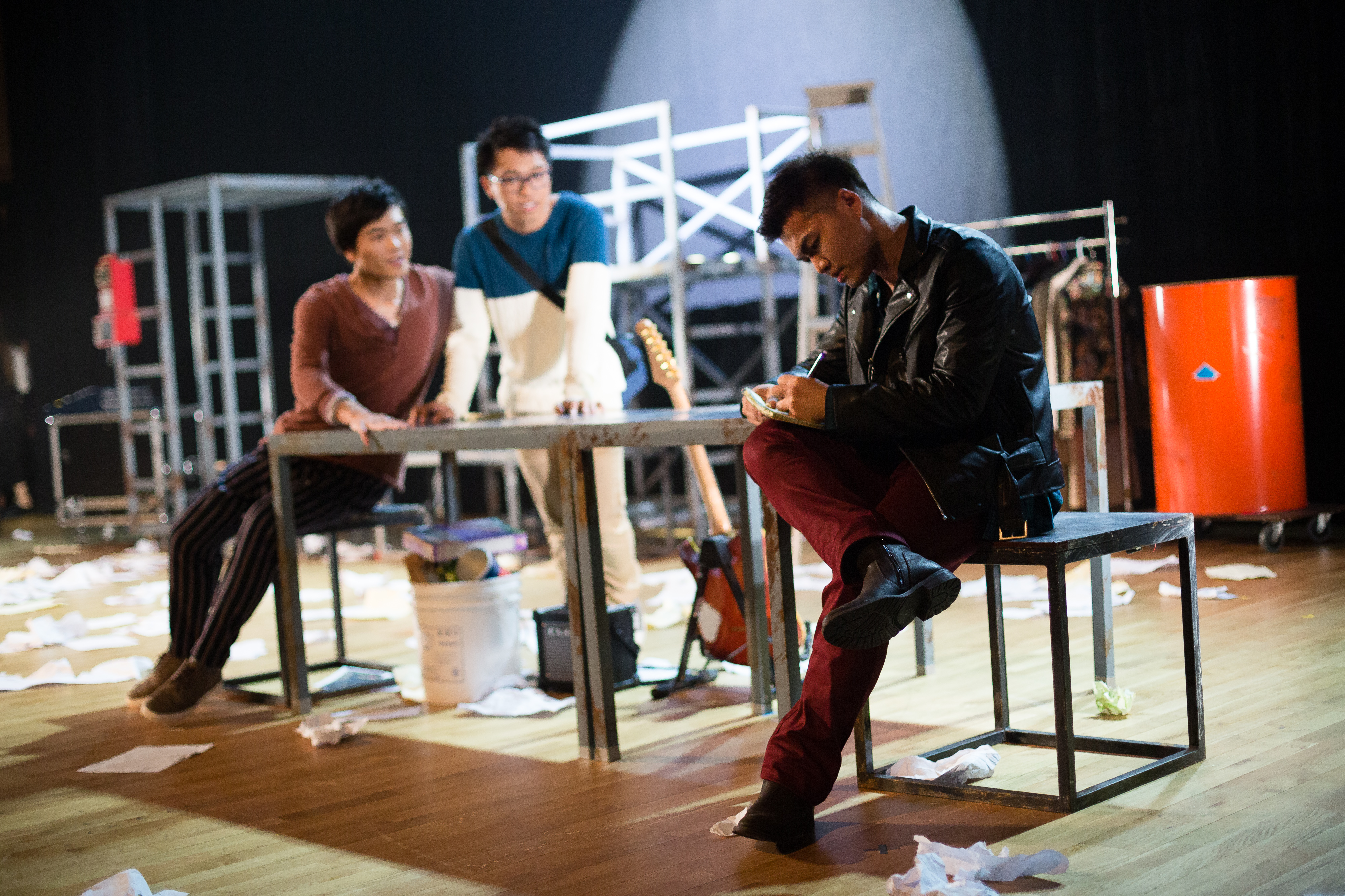 RENT | Featuring: Basnet Tusar | Tagged as: Rent, Show, School Production | Photo: Ivor Houlker |  (Rooftop Productions • Hong Kong Theatre Company)