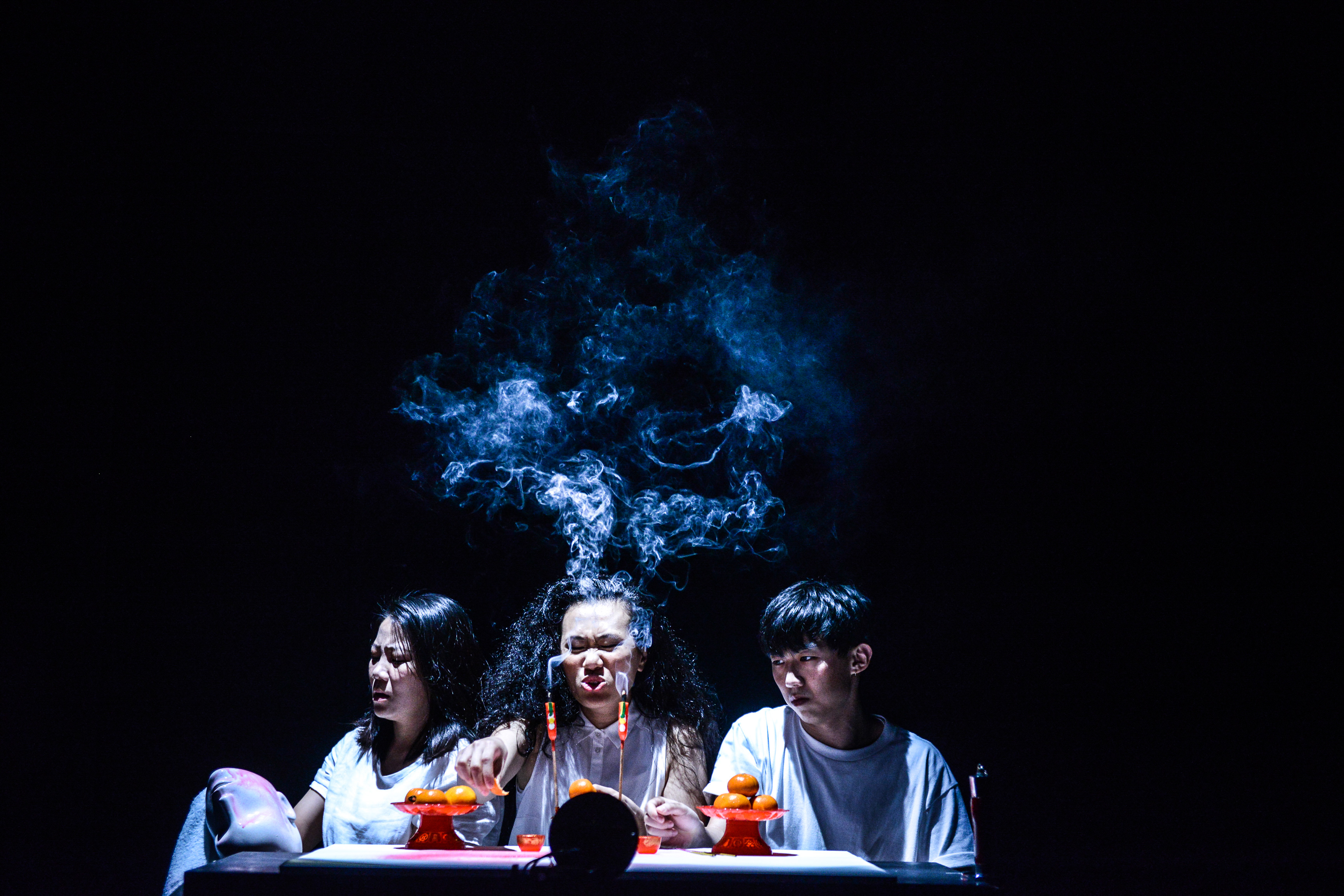 The Furies Variations, Rooftop Productions Theatre Hong Kong 2018 | Featuring: Chou Henick, Michelle Li, Wong On Ting | Tagged as: Show, The Furies Variations | Photo: Fung Wai Sun |  (Rooftop Productions • Hong Kong Theatre Company)