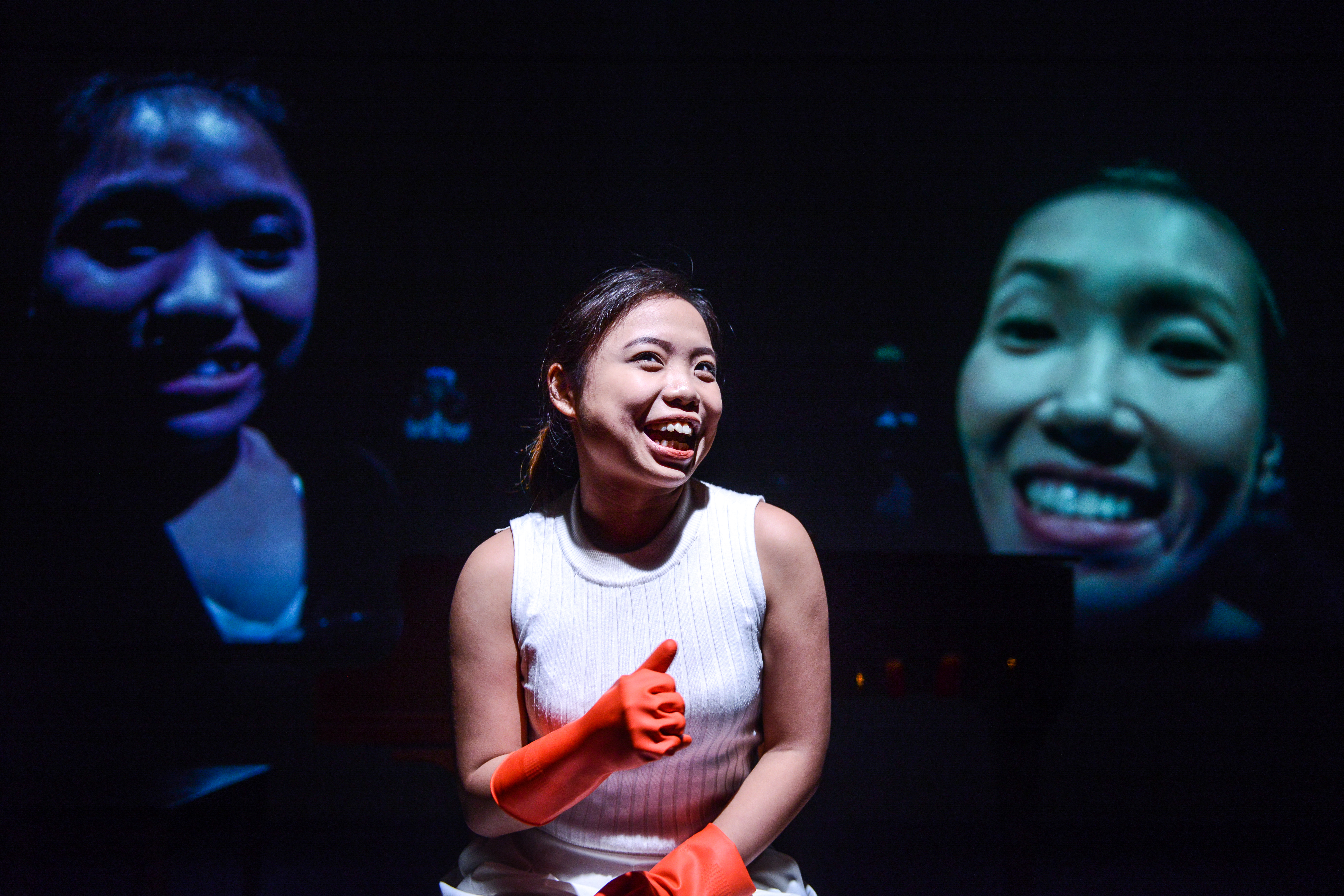 I don't know… maybe because I like children? | Featuring: Isabella Leung, Karen C. Siu, Russell Terre Aranza | Tagged as: Not The Maids, Show | Photo: Fung Wai Sun |  (Rooftop Productions • Hong Kong Theatre Company)
