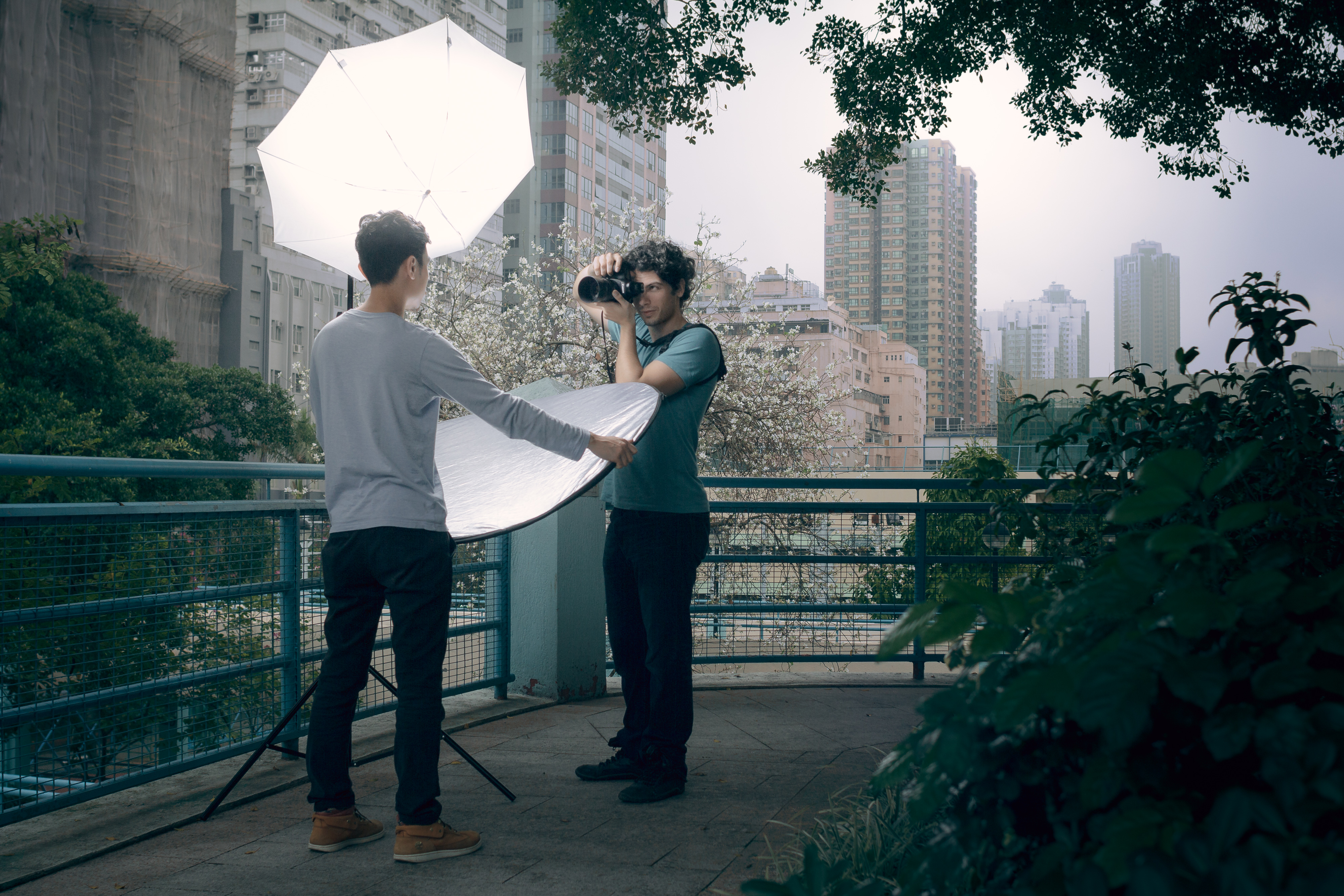 Rooftop Productions • Hong Kong Photography | Outdoor headshot photos with King in San Po Kong