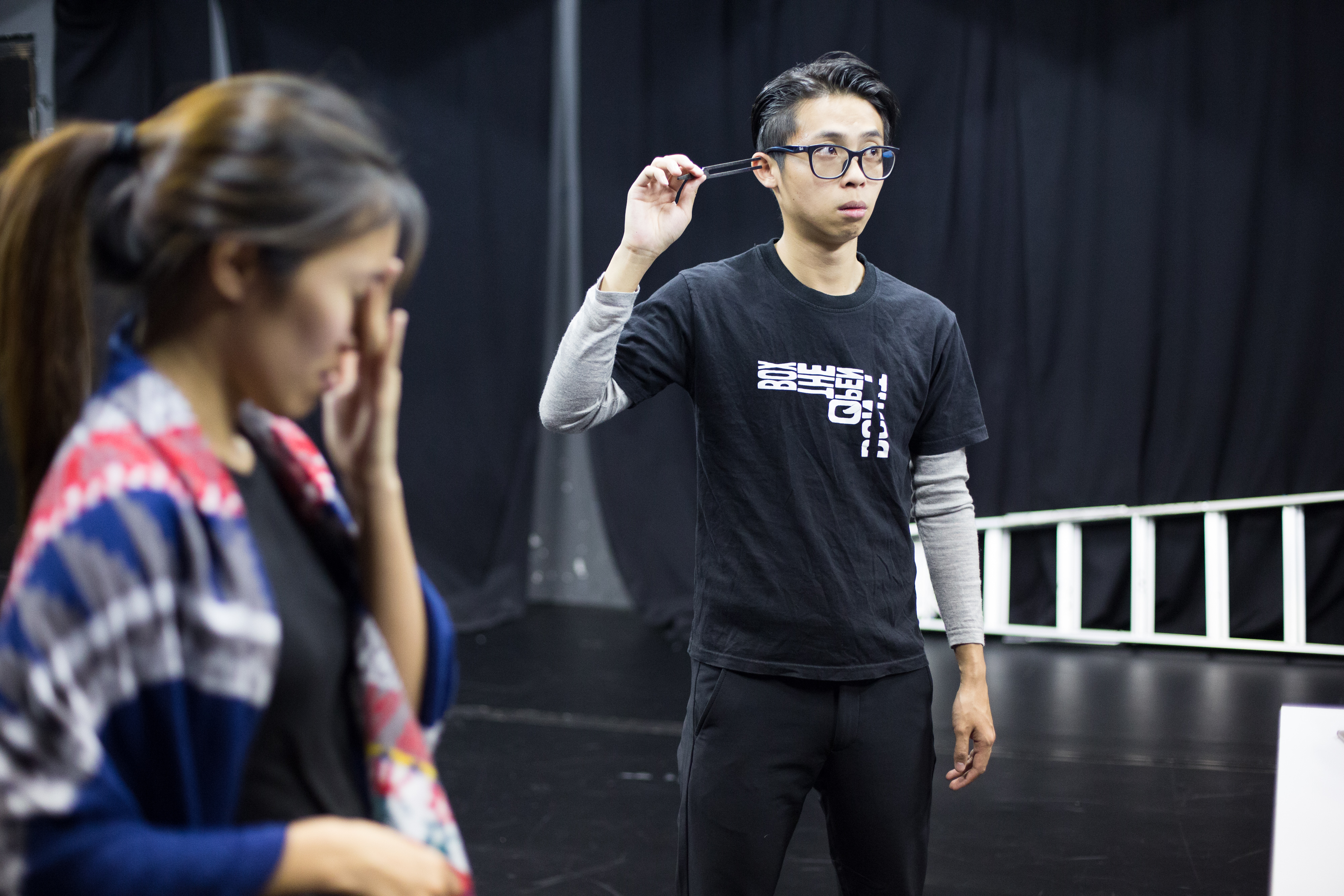 | Featuring: Chiu Chin Hei, Isabella Leung | Tagged as: Polyphonic Song: Voice and Theatre Practice | Photo: Ivor Houlker |  (Rooftop Productions • Hong Kong Theatre Company)