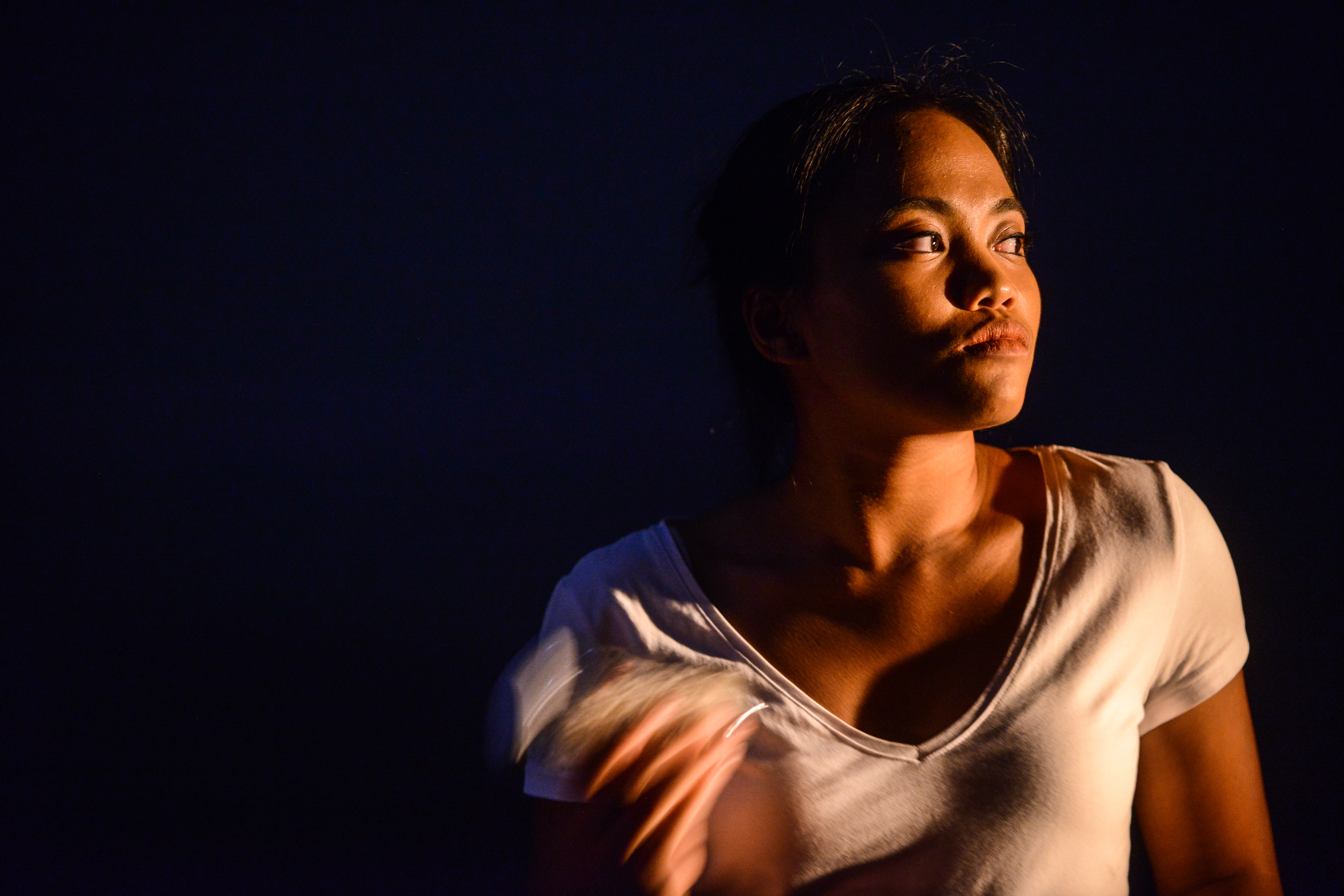 She was standing at the exit of Lai Chi Kok MTR station, waiting for me. | Featuring: Russell Terre Aranza | Tagged as: Not The Maids, Show | Photo: Fung Wai Sun |  (Rooftop Productions • Hong Kong Theatre Company)