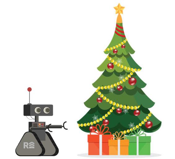 Robot and Christmas Tree
