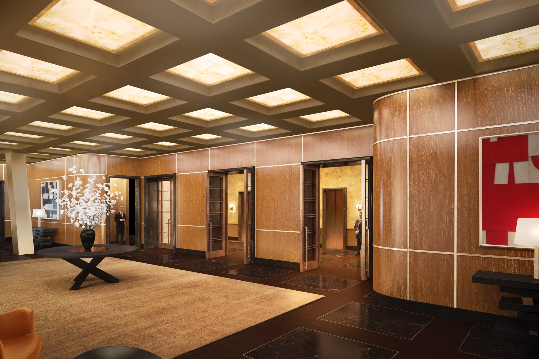 Thierry Despont-designed lobby at 53W53