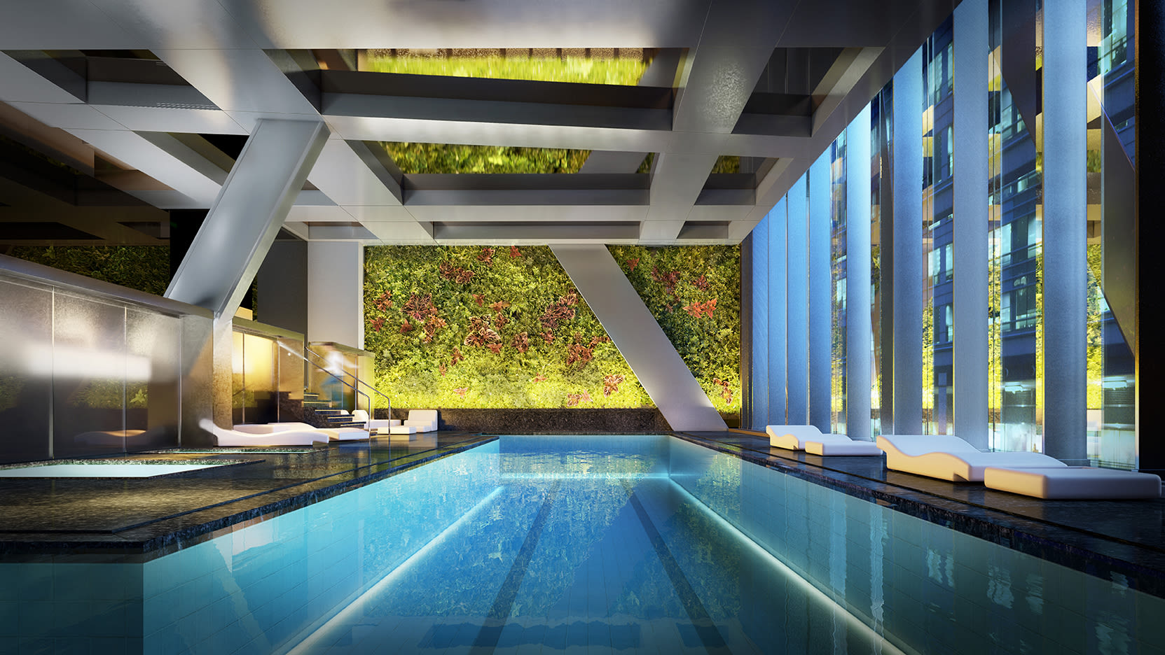 The luxury Midtown Manhattan condos have extensive in-house amenities