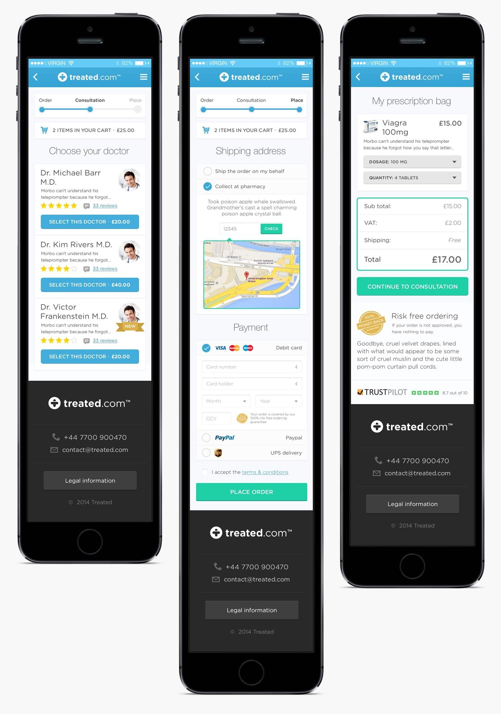 Treated.com mobile