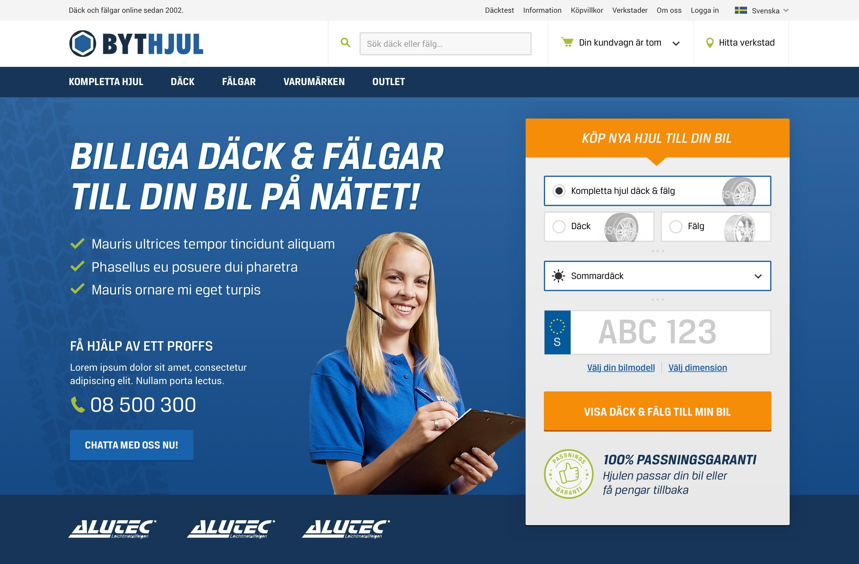 Bythjul.com startpage