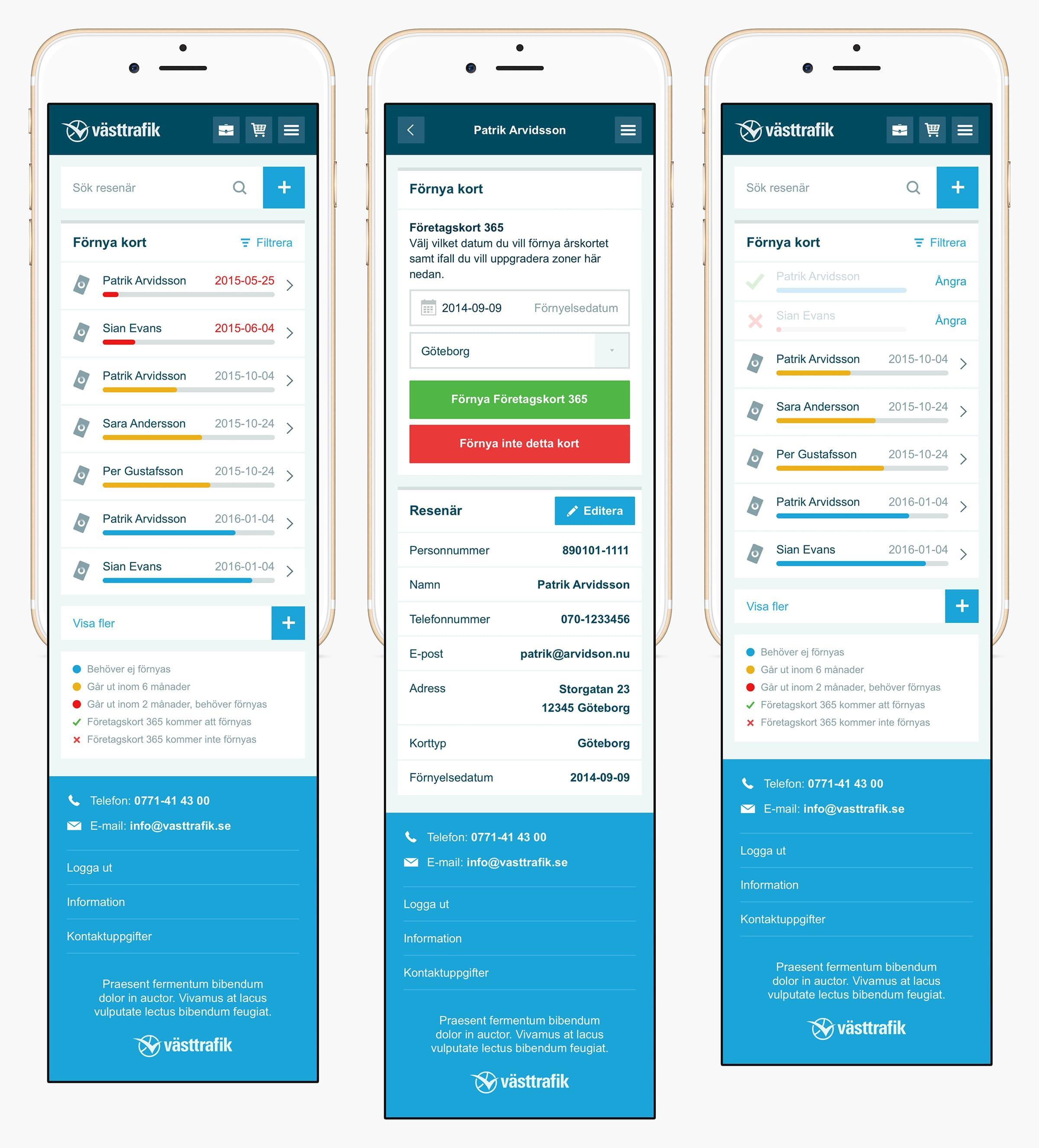 Västtrafik Portal mobile renewal