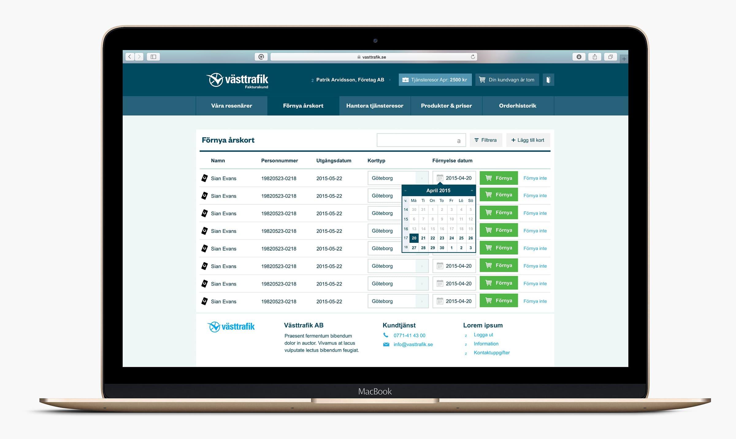 Västtrafik Portal renewal overview