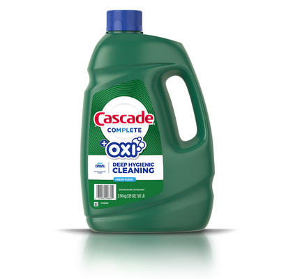 Cascade Complete plus Oxi dishwashing gel 125 ounces