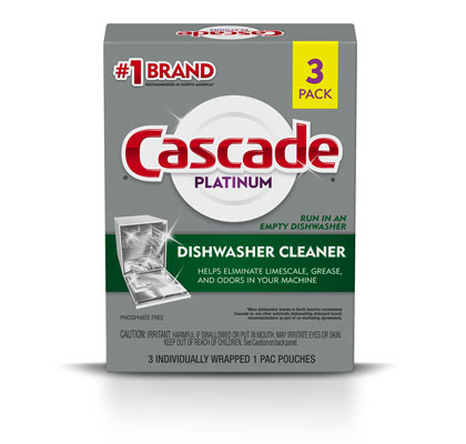Cascade dishwasher cleaner 3 pack