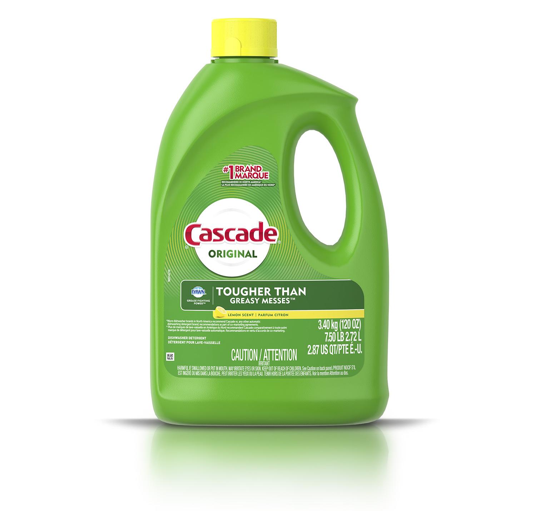 Cascade Original gel detergent with Dawn lemon scent