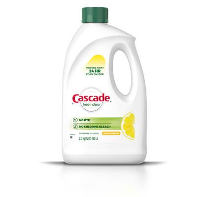 Cascade Free & Clear lemon scent dishwasher gel