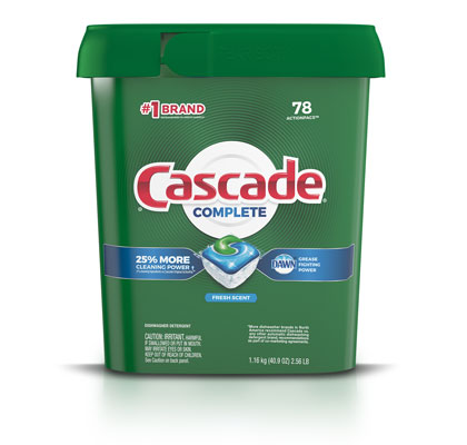 Cascade Complete dishwashing pods fresh scent 78 pack container