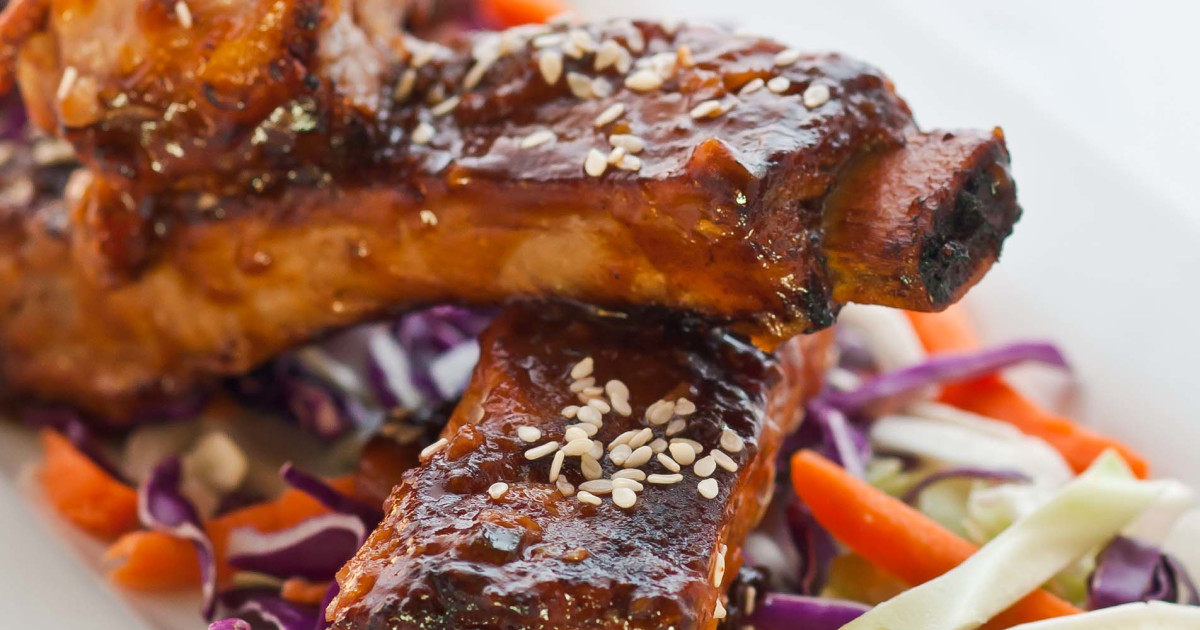 Oven-Roasted Ribs with Hoisin Barbecue Sauce