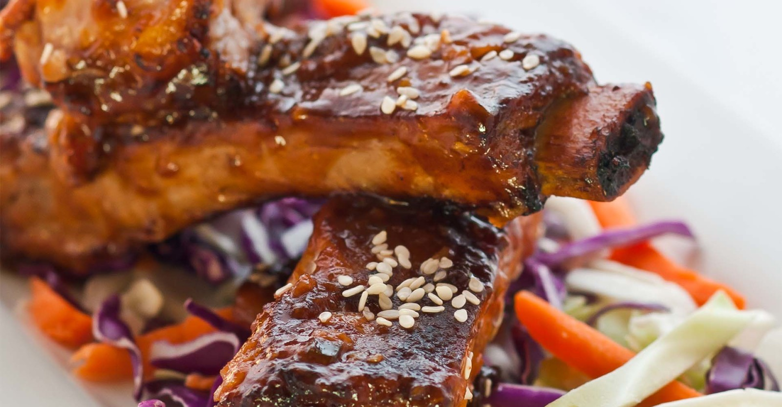 Oven-Roasted Ribs with Hoisin Barbecue Sauce Primary Image
