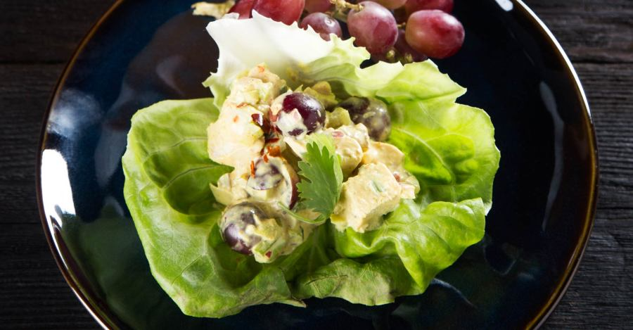 Coconut Porter Curry Chicken Lettuce Wraps Recipe Primary Image